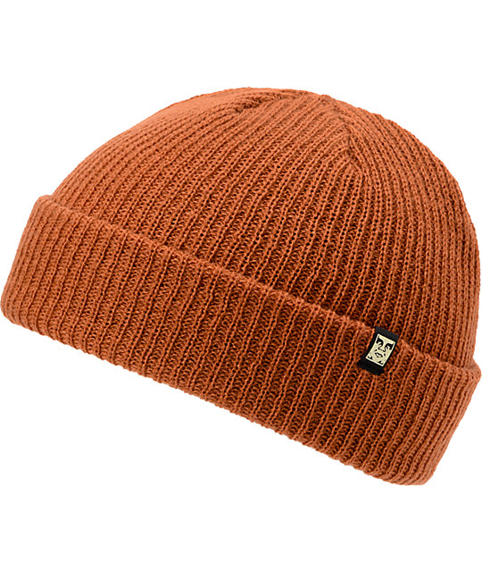 Obey Ruger Caramel Fold Beanie