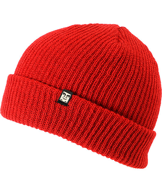 Obey Ruger Red Beanie