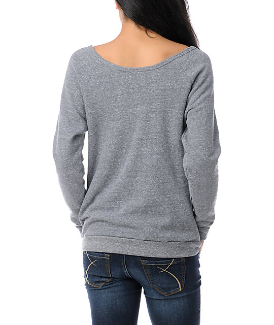 Obey Salem Springs Vandal Grey Crew Neck Sweatshirt