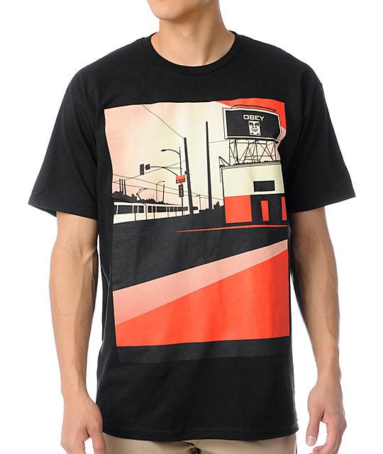 Obey San Diego Billboard Black T-Shirt