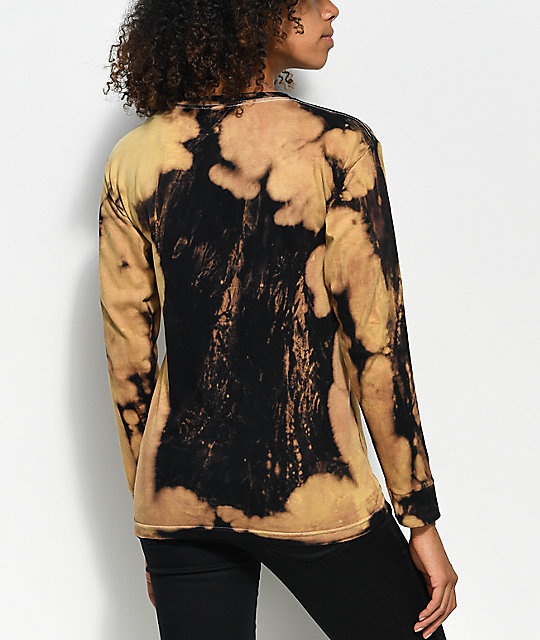 Obey See Clearly Black Bleach Long Sleeve T-Shirt