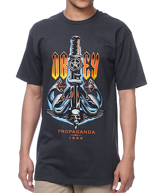 Obey Serpents Graphite T-Shirt