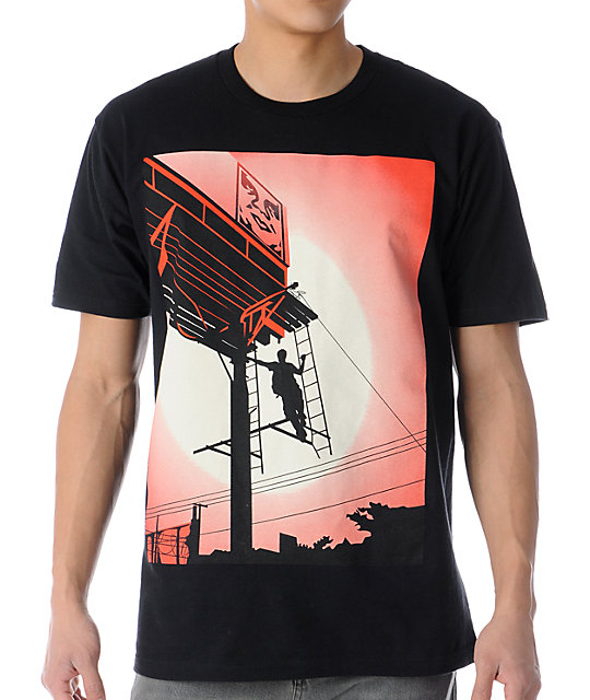 Obey Shepard Billboard Black T-Shirt