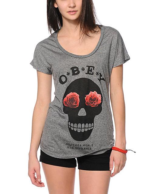 Obey Sinners Mock Twist Dolman T-Shirt