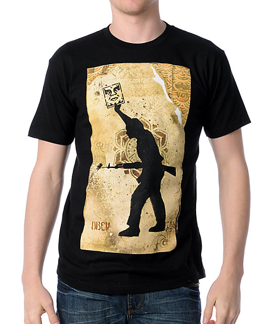 Obey Sol Black T-Shirt
