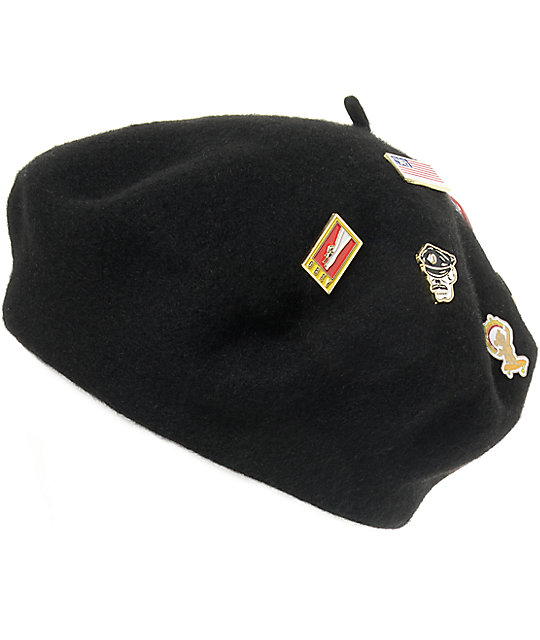 Obey Sonic Black Beret