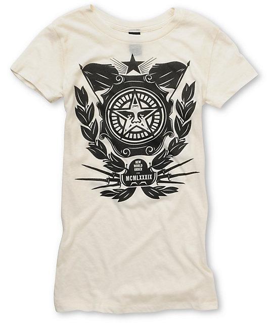 Obey Soviet Crest White Crew T-Shirt
