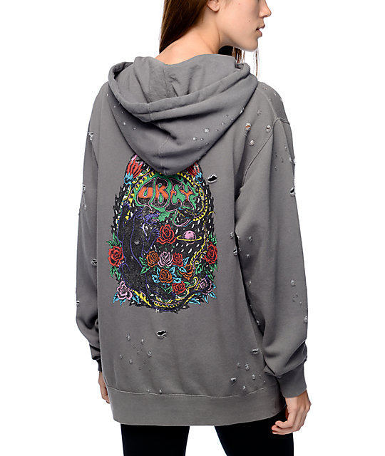 Obey Space & Time Charcoal Hoodie