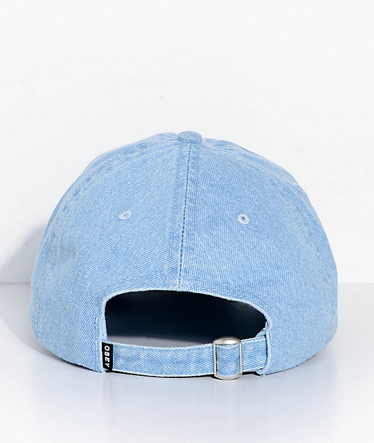 Obey Spider Rose Denim Strapback Hat