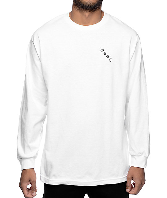 Obey Spider Rose White Long Sleeve T-Shirt | Zumiez