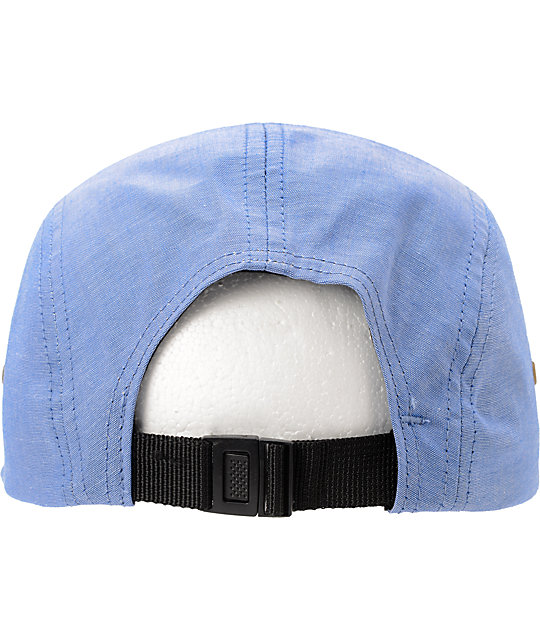 Obey Stadium Chambray Blue 5 Panel Hat