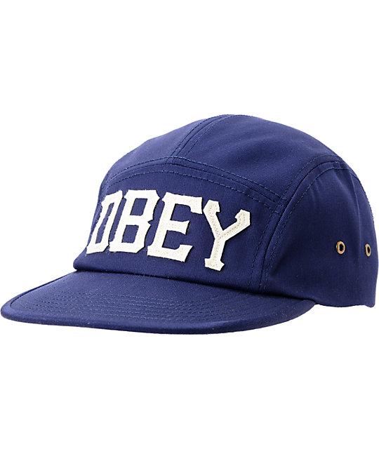 Obey Stadium Navy 5 Panel Hat