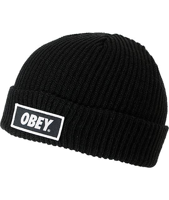 Obey Standard Black Beanie