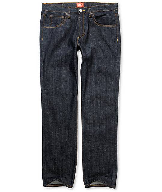 Obey Standard Issue  Raw Wash Regular Fit Jeans