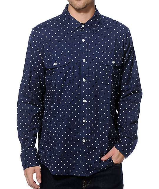 Obey stanford long sleeve button up shirt for Baseball button up t shirt dress