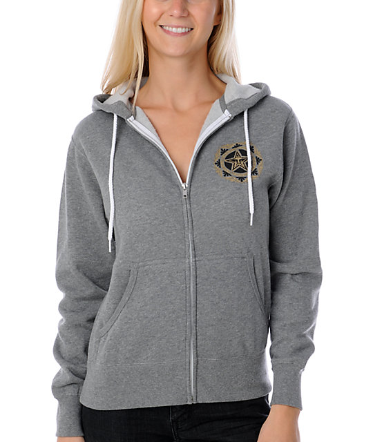 Obey Star Poster Heather Charcoal Hoodie