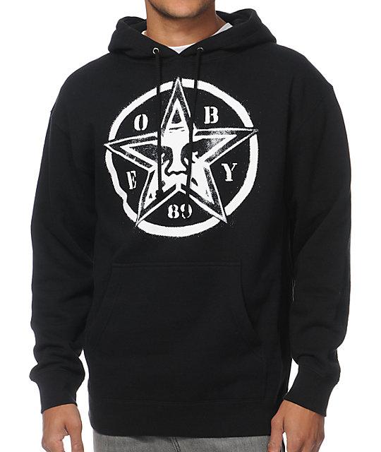 Obey Star Stencil Black Pullover Hoodie
