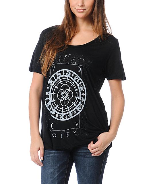 Obey Starmap Black Beau T-Shirt