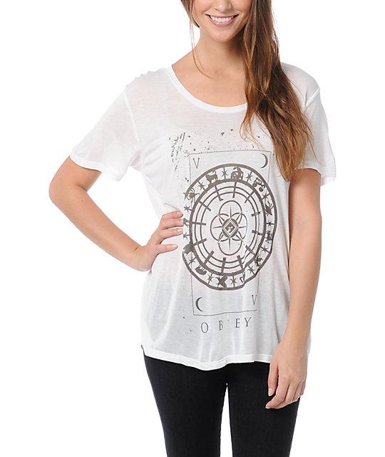 Obey Starmap White Beau T-Shirt
