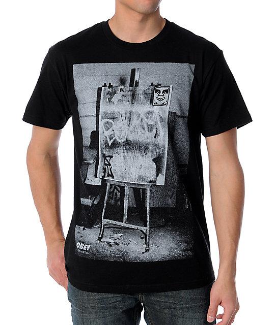Obey Studio Photo Black T-Shirt