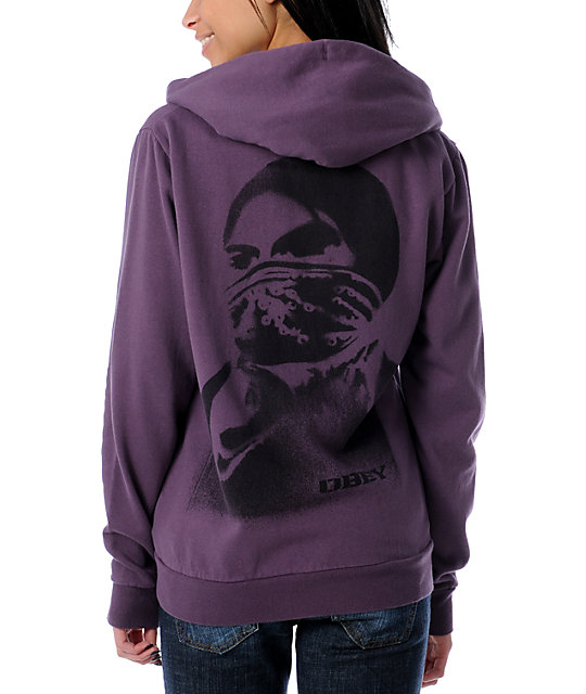 Obey Take Action Plum Hoodie