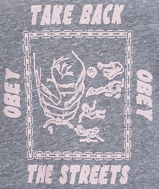 Obey Take Back The Streets Grey Track Tank Top