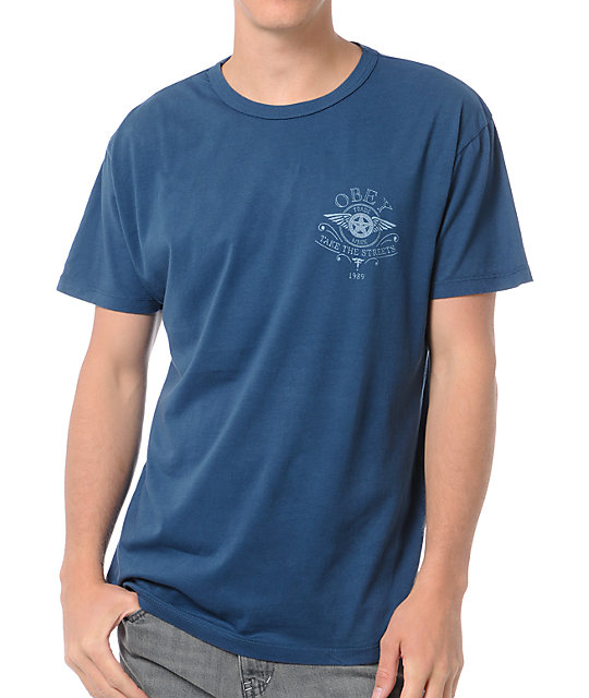 Obey Take The Streets Navy Blue T-Shirt
