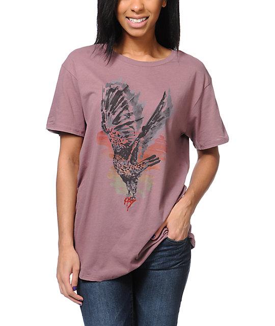 Obey Taking Flight Mauve Tomboy T-Shirt