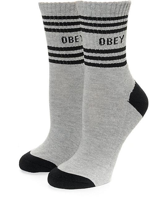 Obey Taylor Black Crew Socks