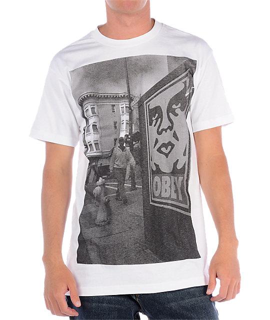 Obey Tenderloin White T-Shirt