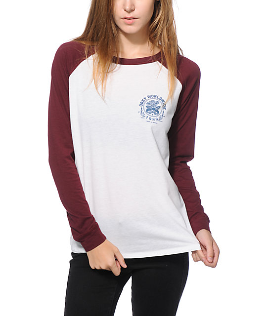 Obey Thick As Thieves Long Sleeve Raglan Shirt | Zumiez