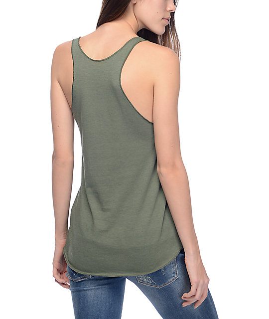 Obey Think & Create Olive Track Tank Top