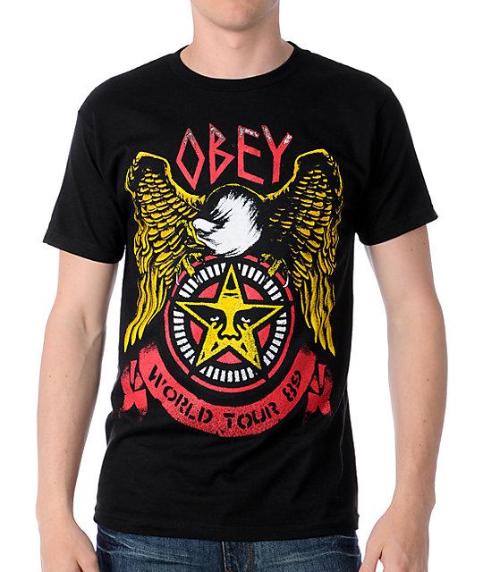 Obey Thrash Eagle Black T-Shirt