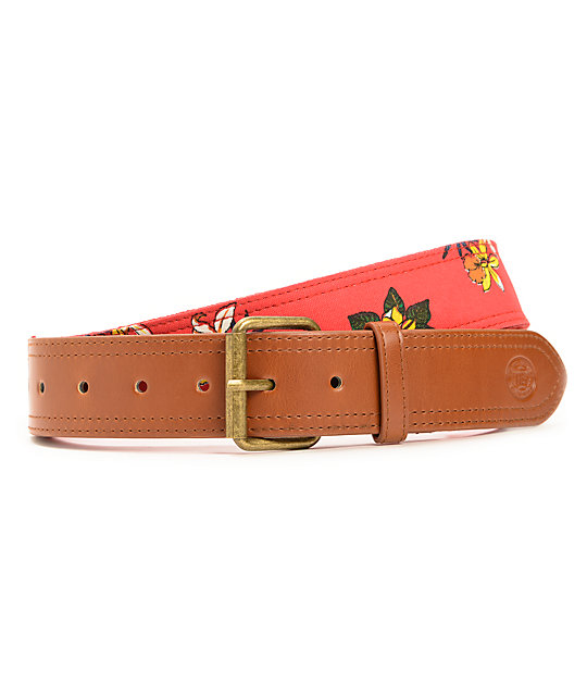 Obey Tourist Hawaiian Red Belt