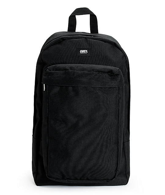 Obey Transit Black Backpack