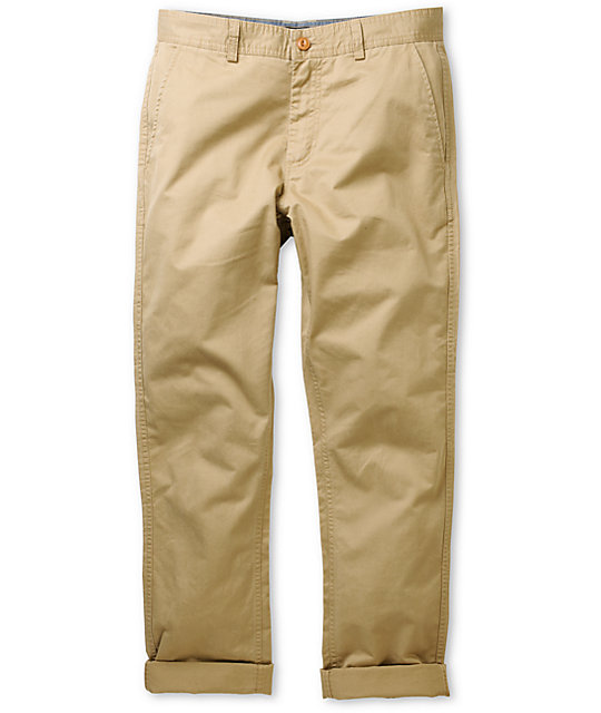 Obey Traveler Slim Fit Khaki Chino Pants