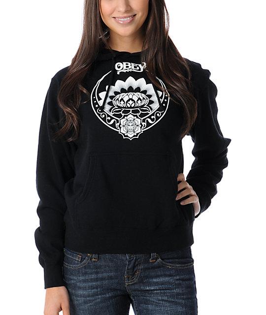 Obey Tres Shiek Glow Black Pullover Hoodie