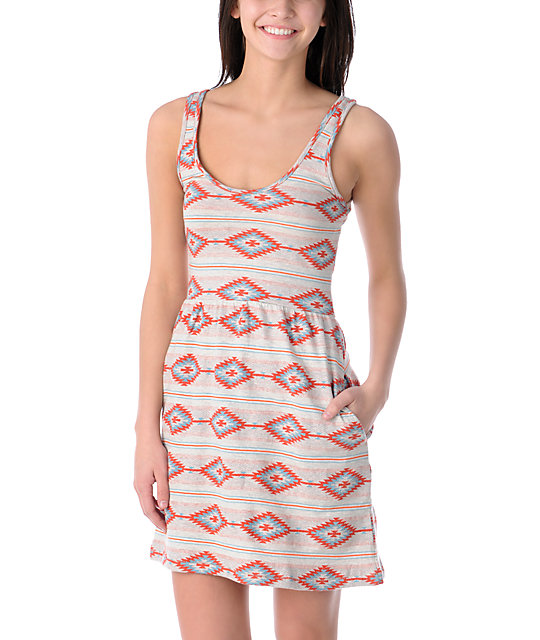 Obey Tribal Tank Dress