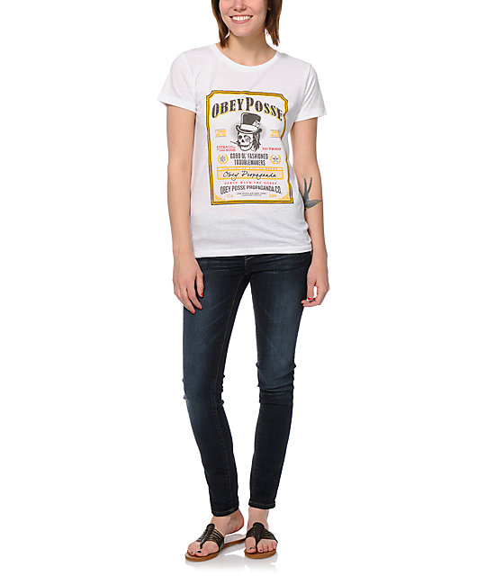 Obey Troublemakers White T-Shirt