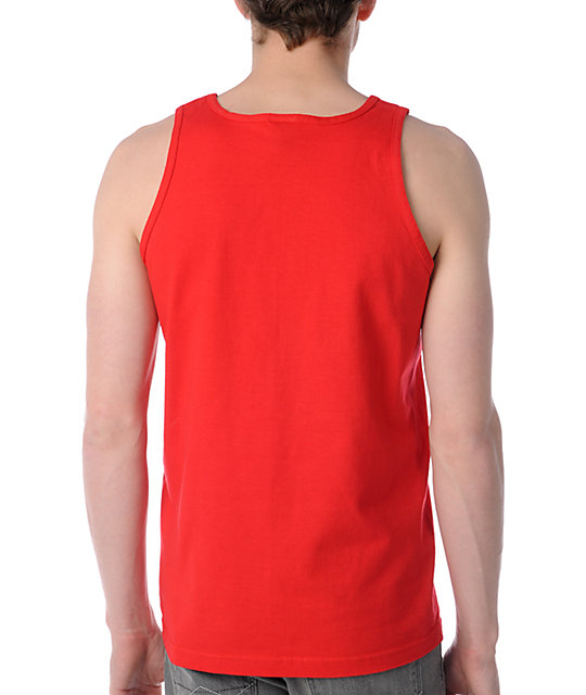 Obey Turks Anchor Red Tank Top