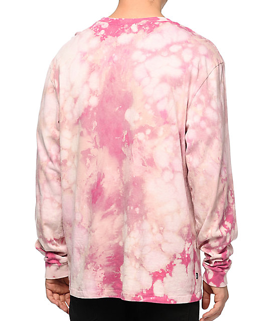 Obey Typewriter Mag Pink Bleach Long Sleeve T-Shirt