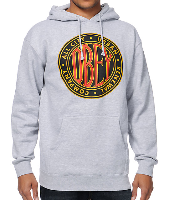 Obey Urban Renewal 2 Grey Pullover Hoodie