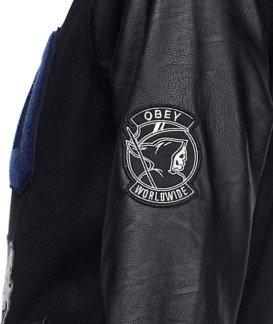 Obey Vacancy Black Varsity Jacket