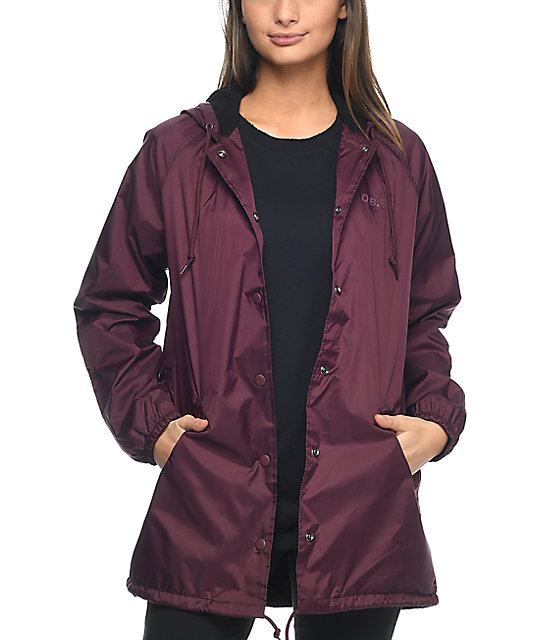 Obey Vanity Burgundy Coaches Jacket
