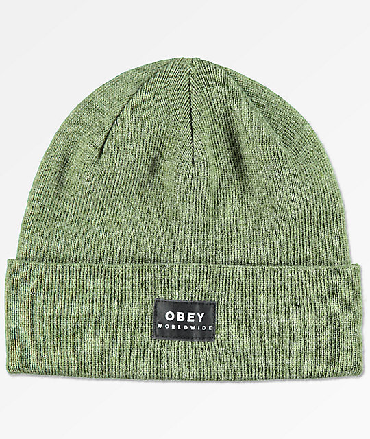 Obey Vernon Army Green Beanie