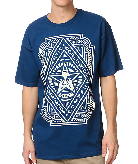 Obey Voltage Blue T-Shirt