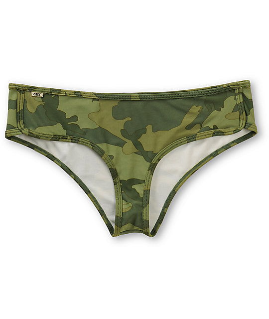 Obey Wasted Years Camo Print Basic Bikini Bottom