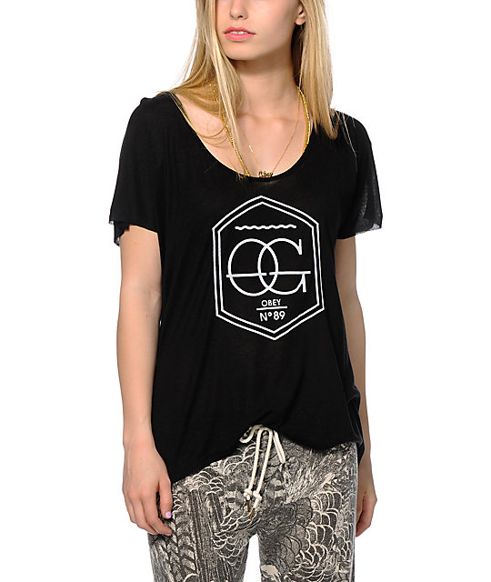 Obey Wave OG Black Dolman Tee at Zumiez : PDP