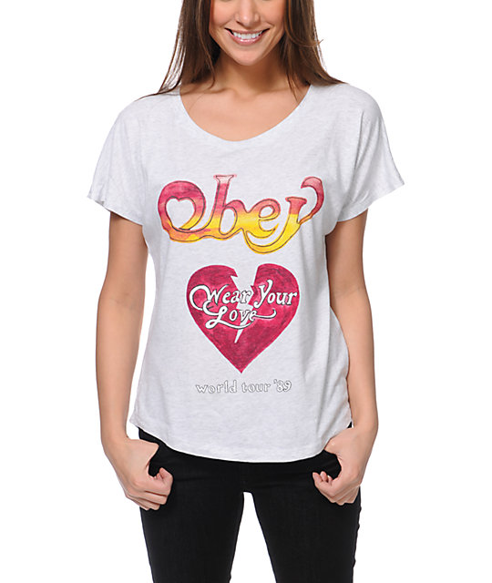 Obey Wear Your Love Heather White T-Shirt