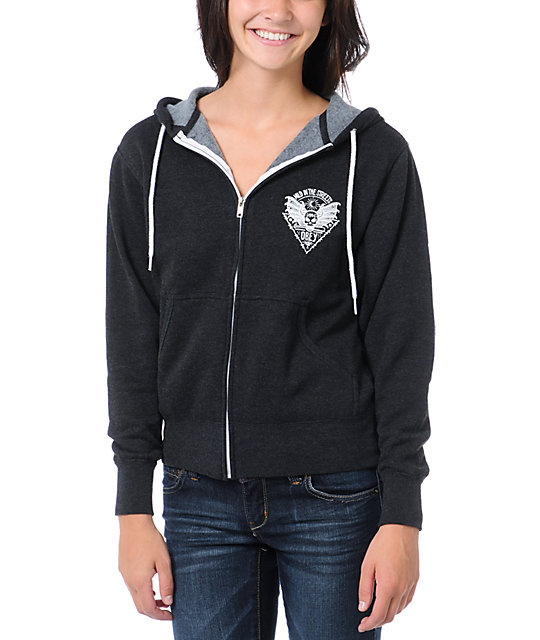 Obey Wild In The Streets Black Zip Up Hoodie